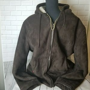 Levi's Brown Faux Suede Fleece-Lined Jacket XL
